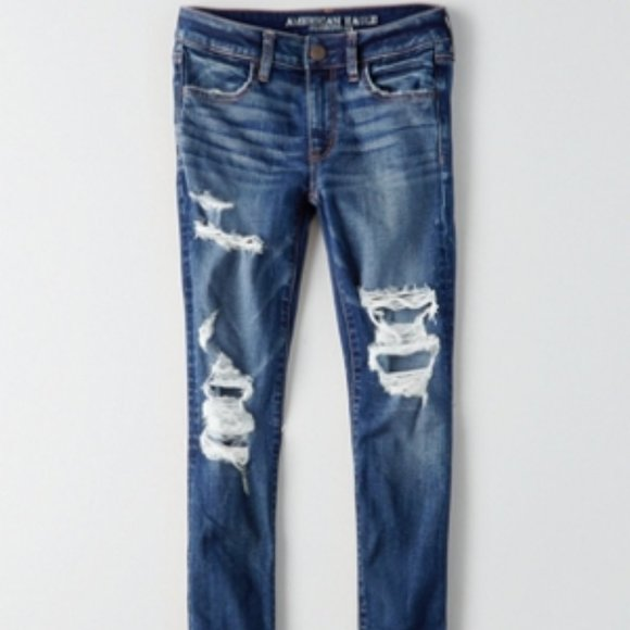 AE Denim x Jegging Ripped Jeans